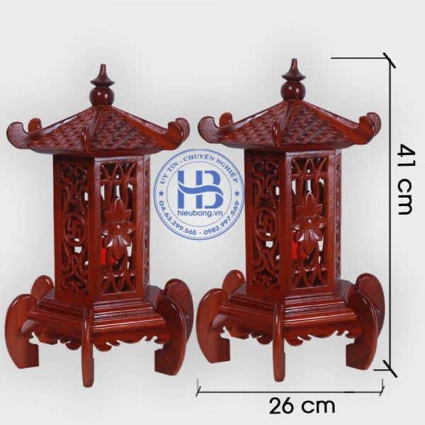 Đèn thờ gỗ bằng Hương cao cấp đục Mái cao 41cm Đẹp ở Hà Nội | Có Hình Ảnh và Video Chi tiết