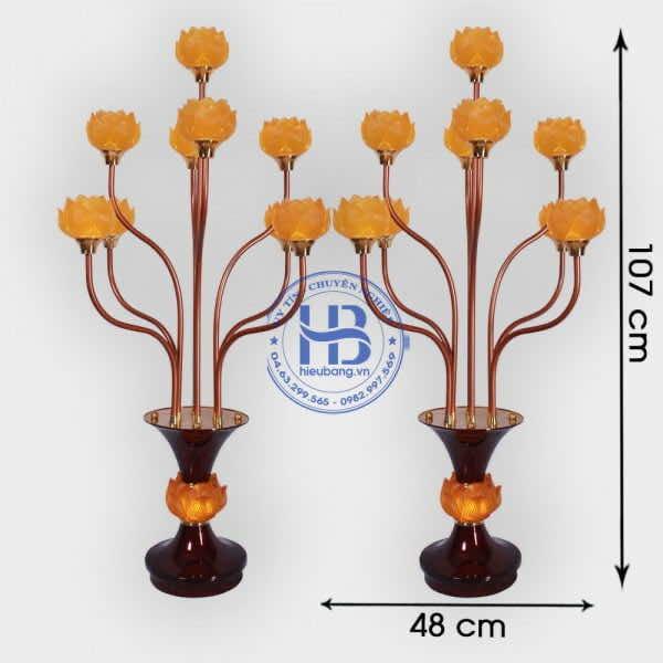 Đèn Thờ Hoa Sen 9 Bông Lưu Ly 127cm Cao Cấp Đẹp Giá Rẻ ở Hà Nội