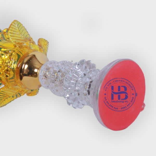 Đèn Thờ Thủy Tinh 1 Bông Vàng Đẹp Giá Rẻ ở Hà Nội   Cửa hàng Hiếu Bằng