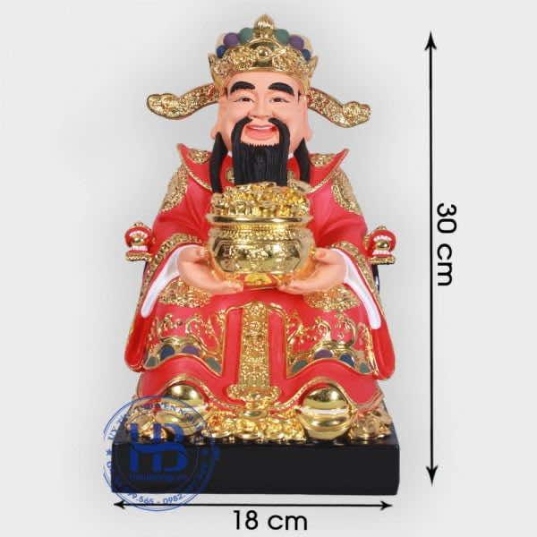 Ông Thần Tài Phát Lộc Màu Đỏ 30cm Cao Cấp Đẹp Giá Rẻ ở Hà Nội