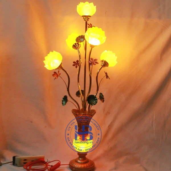 Đèn Lưu Ly Hoa Sen 5 Bông Hoa Sen Cao Cấp Đẹp Tại Hà Nội