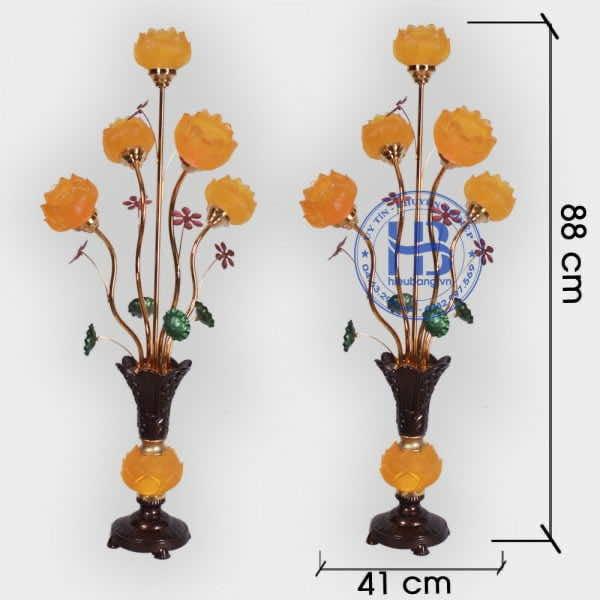 Đèn Lưu Ly Hoa Sen 5 Bông Đổi Màu Cao Cấp Đẹp Tại Hà Nội