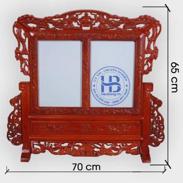 Khung Ảnh Thờ Đôi bằng Gỗ Hương Cao Cấp đục Long Ly Quy Phụng hàng Đẹp ở Hà Nội   ZalO982997569