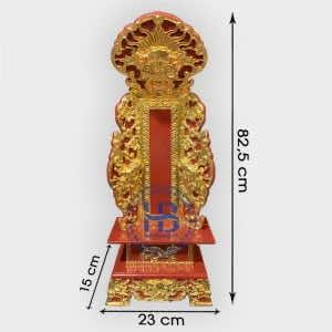 Bài Vị Thờ Sơn Son Thiếc Vàng Bằng Gỗ Mít Hàng Đẹp Giá Tốt Tại Hà Nội | Có Video chi tiết