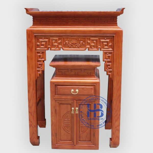Bàn Thờ Gỗ Gồi BT13 89x61cm Đẹp Giá Rẻ ở Hà Nội