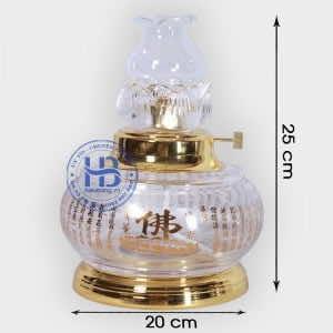 Đèn Dầu Thủy Tinh 25cm Đẹp Giá Rẻ ở Hà Nội | Có Hình Ảnh và Video Chi tiết
