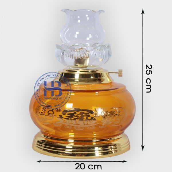 Đèn Dầu Thủy Tinh 25cm Vàng Đẹp Giá Rẻ ở Hà Nội   Có Hình Ảnh và Video Chi tiết