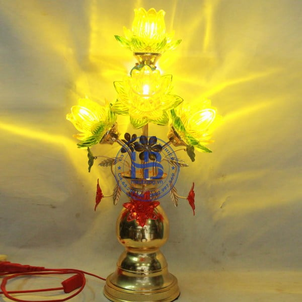 Đèn Thờ Led 5 Bông Sen Đẹp Giá rẻ ở Hà Nội