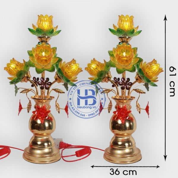Đèn Thờ Led 5 Bông Sen 59cm Đẹp Giá rẻ ở Hà Nội