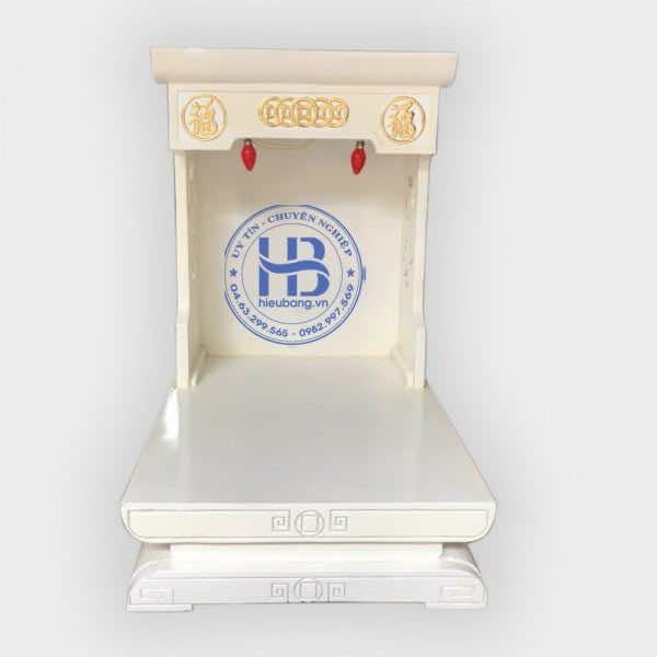 Bàn Thờ Thần Tài Màu Trắng Gỗ Sồi 41cm, 48cm Đẹp Giá Rẻ ở Hà Nội
