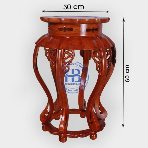 Đôn Sen Gỗ Hương cao 60cm Kê Lọ Hoa Bình Bông Đẹp ở Hà Nội | Giá gốc