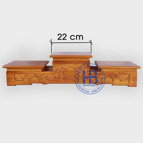 Tam Cấp Bàn Thờ Gỗ Mít 22cm Gỗ Mít Đẹp Giá Rẻ Ở Hà Nội   Hiếu Bằng