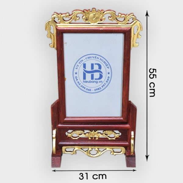 Khung Ảnh Thờ Gỗ Hương Dác Vàng 20x30cm Đẹp Giá Tốt tại Hà Nội   Hiếu Bằng.VN