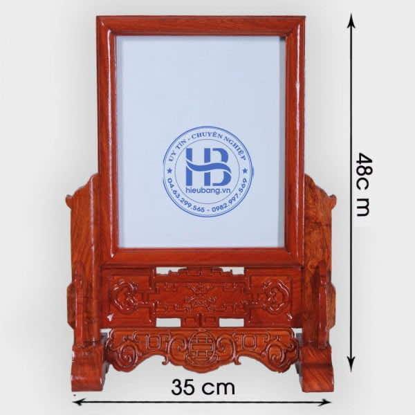 Khung ảnh thờ gỗ Hương đục nền đẹp giá rẻ ở Hà Nội