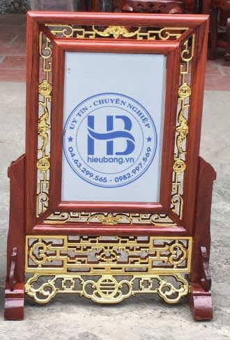 Khung Ảnh Thờ Kép Rơi Dát Vàng gỗ Hương 20x30cm tại Hà Nội