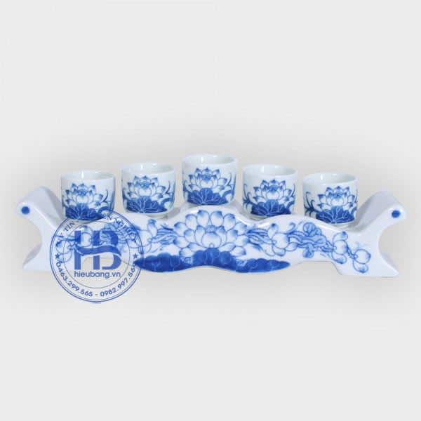 Kỷ 5 Chén Men Xanh Ngọc Bát Tràng Cao Cấp Đẹp tại Hà Nội | Hiếu Bằng .VN