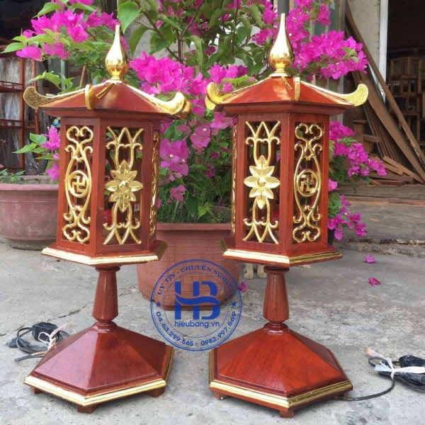 Đèn Thờ Gỗ Hương Dát Vàng Cao Cấp Đẹp Giá Rẻ ở Hà Nội   Hiếu Bằng.VN