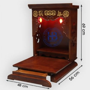 Mẫu Bàn Thờ Thần Tài Hiện Đại 48cm Theo Chuẩn Phong Thủy Đẹp Giá Rẻ Hà Nội | Hiếu Bằng .VN