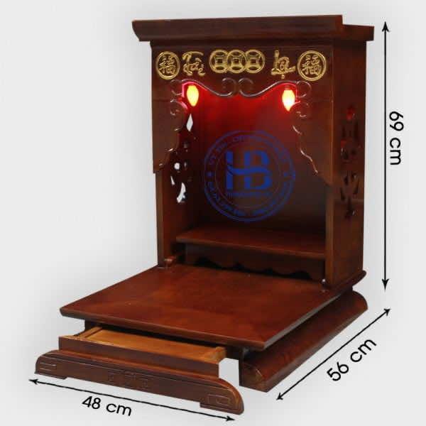 Mẫu Bàn Thờ Thần Tài Hiện Đại 48cm Theo Chuẩn Phong Thủy Đẹp Giá Rẻ Hà Nội   Hiếu Bằng .VN