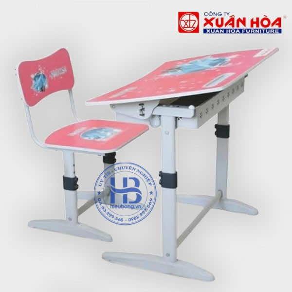 Bộ Bàn Ghế Học Sinh Xuân Hòa BHS-14-07 Đẹp Giá Rẻ ở Hà Nội