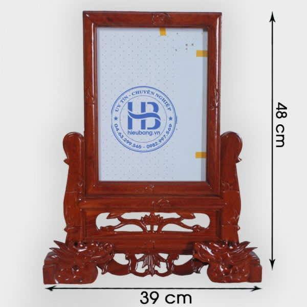 Khung Hình Thờ Gỗ Hương 20x30 Đục Rồng Cao Cấp Tại Hà Nội