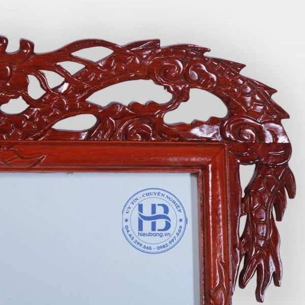 Khung Ảnh Thờ Đôi Gỗ Hương 25x35cm Đục Rồng Cao Cấp Tại Hà Nội