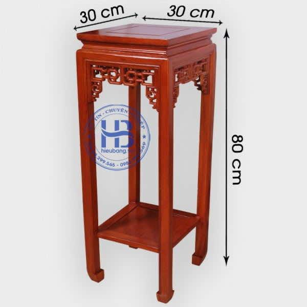 Đôn Vuông Gỗ Hương Mặt 30cm, Cao 80cm Hàng Đẹp Giá Tốt Tại Hà Nội
