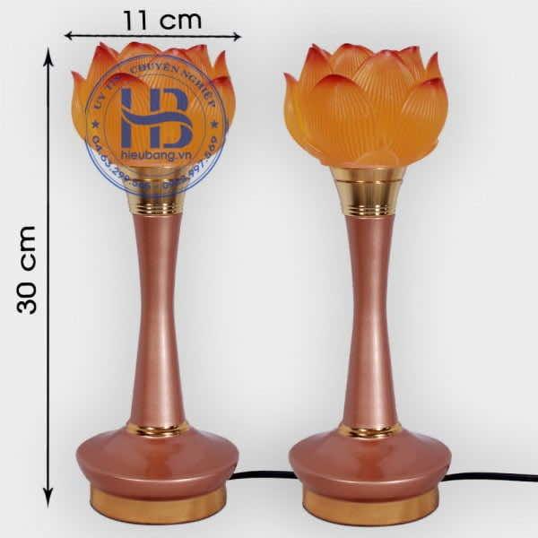 Đôi Đèn 1 Bông Hoa Sen Thủy Lưu Ly Cao 30cm Đẹp Giá Rẻ Hà Nội | Hiếu Bằng .VN