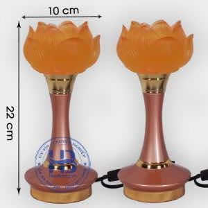 Đôi Đèn 1 Bông Hoa Sen Thủy Lưu Ly Cao 22cm Đẹp Giá Rẻ Hà Nội